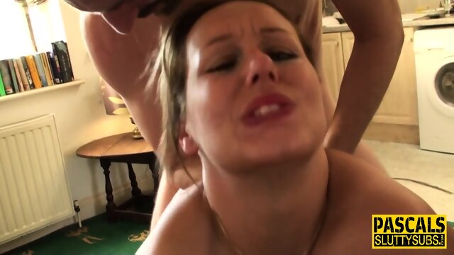 Milf submissive gets deep throated
