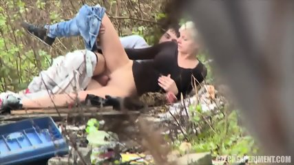 Blonde Girl Fucks Casual Guy In The Park - scene 12
