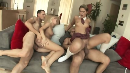 Two Couples Anal Orgy - scene 8