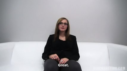 Sweet Amateur With Glasses At The Sex Casting - scene 1