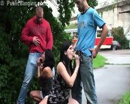 Public Orgy On The Street With Pregnant Woman And Cute Petite Girl - scene 3