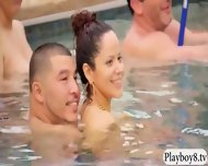 Nasty Swingers Having Fun By The Pool With Nasty Dudes