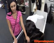 Shy Pawnshop Babe Titfucks The Owners Cock