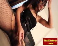 Thai Ladyboy In Lingerie Pleasures Self