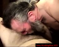 Mature Straight Bear Eagerly Sucks Cock