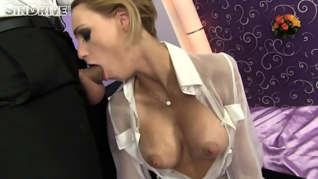 Elegant Babe With Cum On Her Round Tits