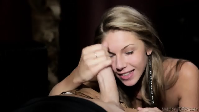 Glam Blonde Plays With Dick