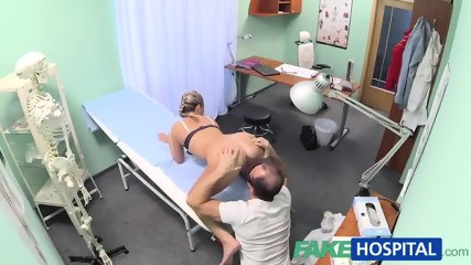 Hot Blonde Loves The Doctor's Muscles And Smooth Talking Charm