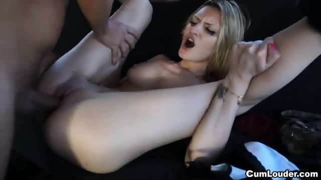 Skinny Blonde Fucked Hard In The Van