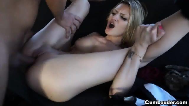 Skinny Blonde Fucked Hard In The Van