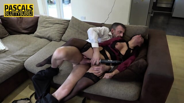 Milf submissive in stockings roughly fucked