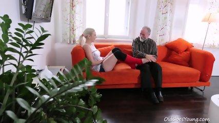 Old Guy Fucks Attractive Teen - scene 1