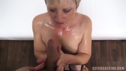 Mature Blonde Sucks And Takes Cock At The Casting - scene 9