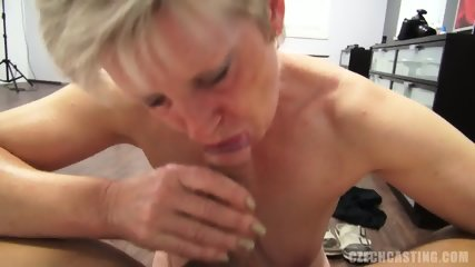 Mature Blonde Sucks And Takes Cock At The Casting