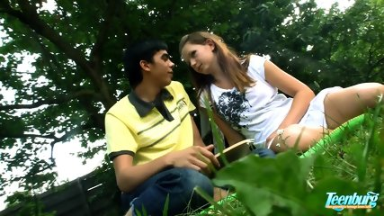 Teen At The Picnic With Hard Dick - scene 1