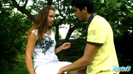 Teen At The Picnic With Hard Dick - scene 3