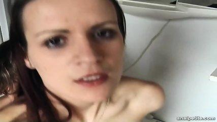Petite Girl Has Anal Sex In Bathroom - scene 7