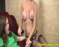 Milf In Stockings Tugging Stepson