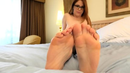 Sweet Babe With Glasses And Playful Feet - scene 5