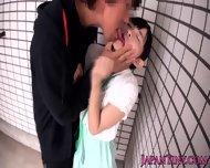 Tiny Japanese Babe Swallows Jizz