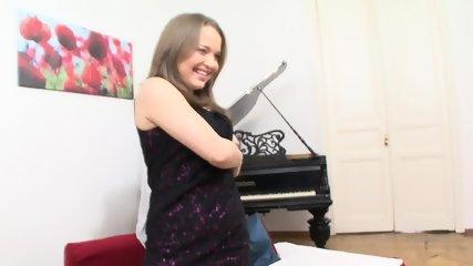 Piano Lesson Turns Into Vulgar Dick Sucking - scene 4