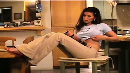 Melanie stripps in kitchen - scene 1