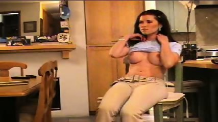 Melanie stripps in kitchen - scene 2