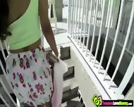 Desperate Brunette Teen Isabella De Santos Blows Cock In The Public For A Couple Of Bucks