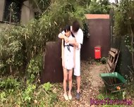 Tiny Japanese Babe Fucked Between Legs