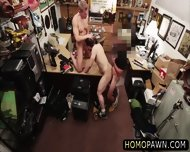 Hunk Dude Sucks Two Huge Cock At The Shop For A Couple O Bucks And Gets Holed - scene 9