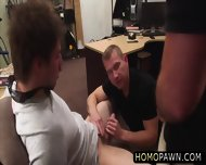 Hunk Dude Sucks Two Huge Cock At The Shop For A Couple O Bucks And Gets Holed - scene 7
