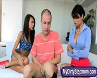 Kinky Teen Janice Griffith Horny Trio With Her Sexy Stepmom - scene 1