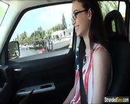 Teen Tali Dava Masturbates In A Car And Gets Cum All Over Her - scene 5