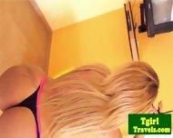Latina Tgirl Leticia Freitaz Stripping - scene 3