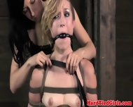 Ball Gagged Blondes Bondage Frogtie Fun - scene 11