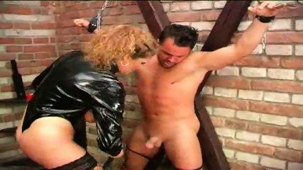 Mature Dominatrix uses her Slave - scene 2