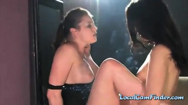 Smoking lesbian strapon