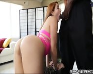 Stunning Redhead Rose Red Tyrell Enjoys Her First Huge Cock