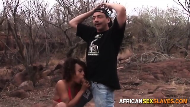 African girl taken outdoors to fuck rancher