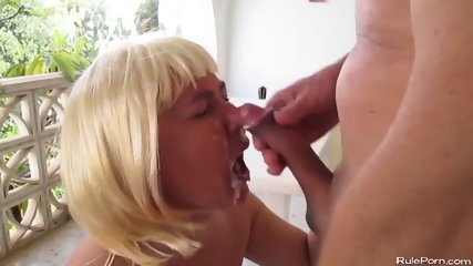 Fuck On The Balcony With Mature Wife