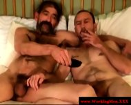 Mature bikers tugging after anal