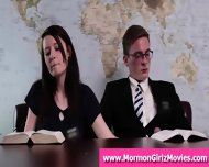 Mormon Couple Giving Secret Handjob In Office Meeting