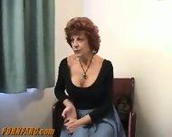 Redhead Granny Give Blowjob