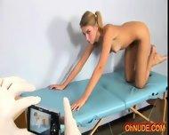 Pretty Sexy Blonde Naked Exam