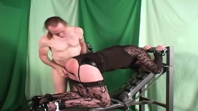 Blonde Tranny Used By Horny Stud With Big Cock