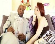 slutty redhead teen meets her mothers new black husband