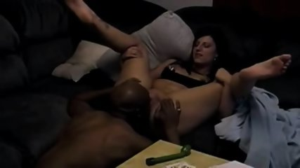 Black Boy Pounding White Girl On The Sofa - scene 4