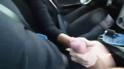 Stunning Lady Strokes Cock While Driving - scene 10
