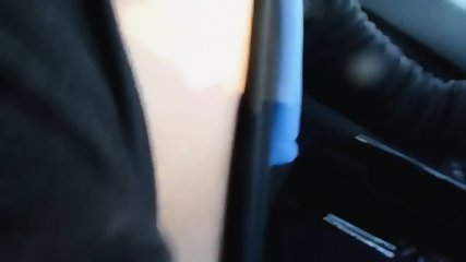 Stunning Lady Strokes Cock While Driving - scene 1