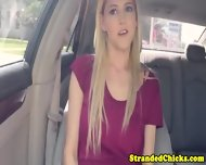 Stranded Blonde Teen With Weird Saggy Tits